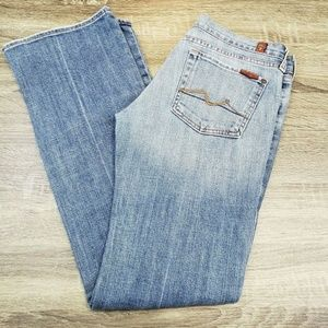 7 For All Mankind Bootcut Jeans Womens Sz 28 x 31